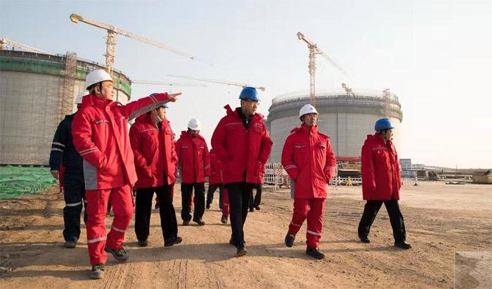 集团党委副书记、总经理、副董事长米大斌到曹妃甸新天液化天然气有限公司调研检查工作